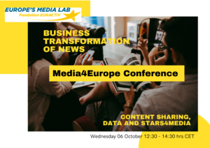 Media4Europe Conference: Business Transformation of NEWS